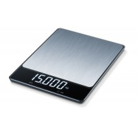 Beurer KS 34 XL kitchen scale; Stainless steel weighing surface; Magic LED; 15 kg / 1 g