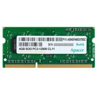 Apacer 4GB Notebook Memory - DDR3 SODIMM PC12800 @ 1600MHz